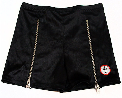 Vintage 1998 Ladies Zipper Shorts by Winterland Productions