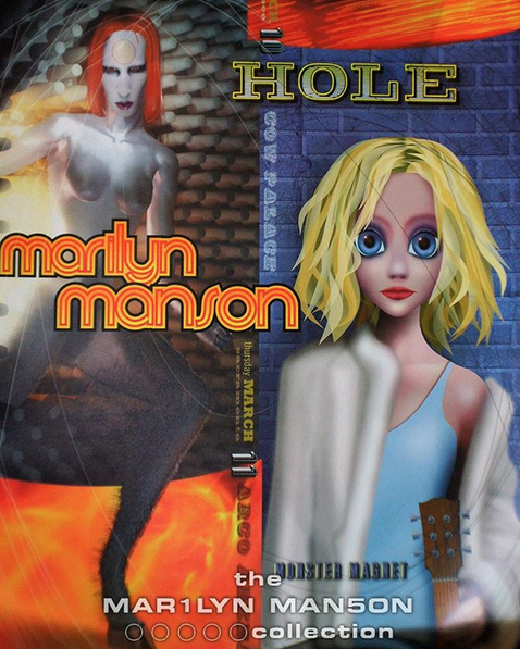 Marilyn Manson & Hole Poster