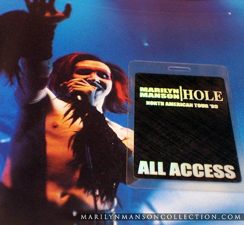 Marilyn Manson / Hole 1999 All Access Laminate