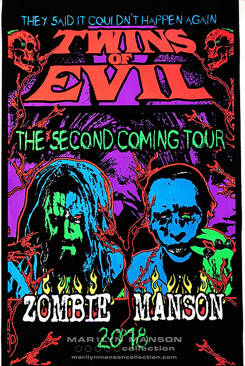 Twins Of Evil Second Coming Blacklight Poster