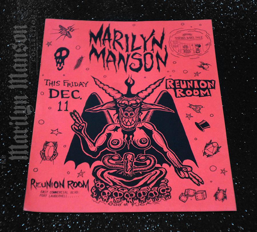 Marilyn Manson Flyer