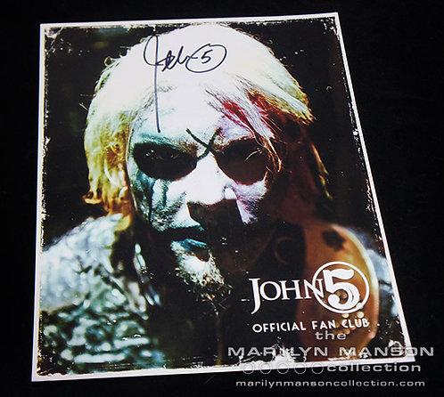 John 5 Fan Club Signed Metallic Photo