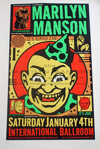 Uncle Charlie January 4 1997 Show Screen Print Poster
