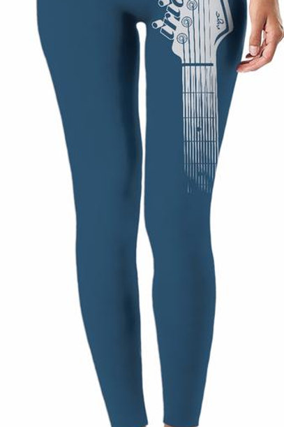 Iridium Guitar Head Ladies Leggings