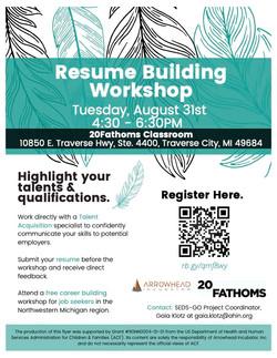 20Fathoms Resume Building Workshop_Registration_Flyer