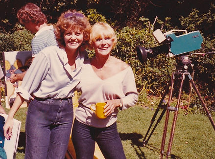"On location for ""Painting with Elke Sommer"""