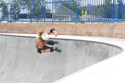 Vertical roller skating Toni Edwards