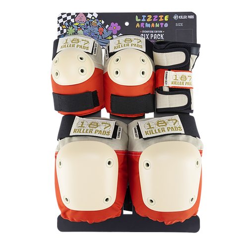 NEW LIZZIE ARMANTO PRO MODEL 187 Killer Pads Adult Six Pack Pad Set