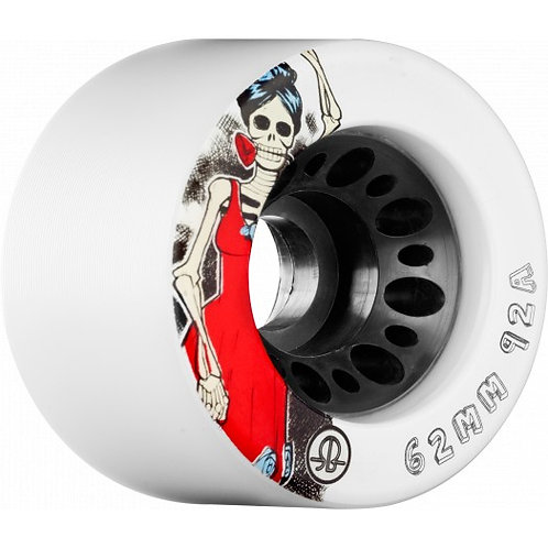 Rollerbones Day of the Dead Speed wheel 62mm x 92a White