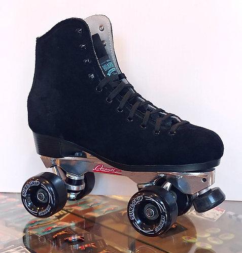 Sure-Grip Boardwalk Avanti Outdoor Roller Skates - BLACK
