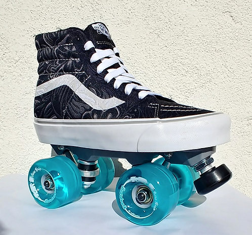 Custom Vans Outdoor Roller Skates with Nylon Plates