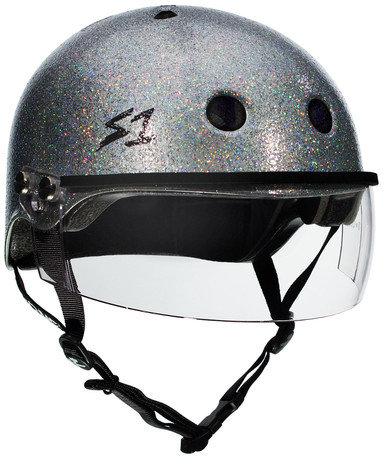 S1 Lifer Visor Helmet - Gen 2 - Silver Gloss Glitter w/ Clear Visor