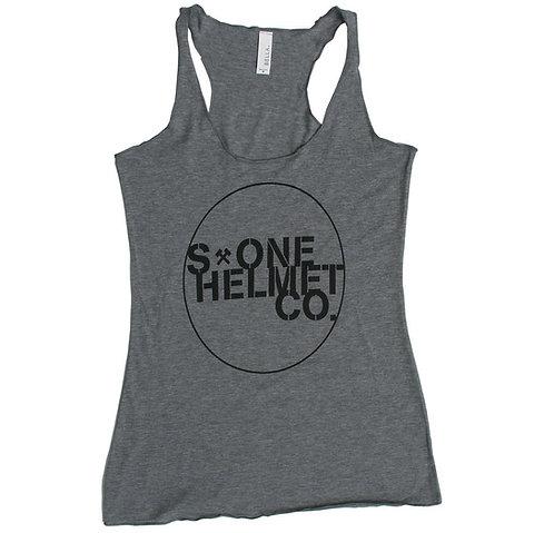 S-ONE Helmet Co. - Seal Logo Racer Back Tank - Heather Grey Tri-Blend