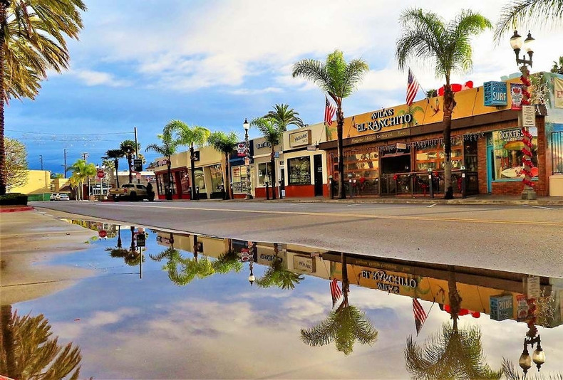 View from the West Side of Main Street looking towards Surf City Skates