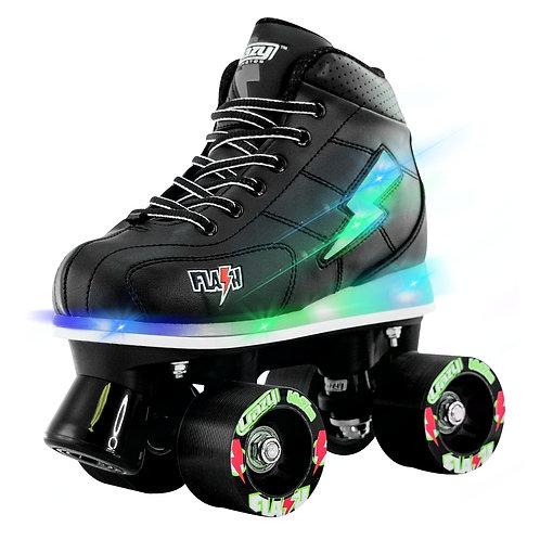 """Crazy Skates """"FLASH"""" Kid's Roller Skate with LED Light Up/ BLACK"""