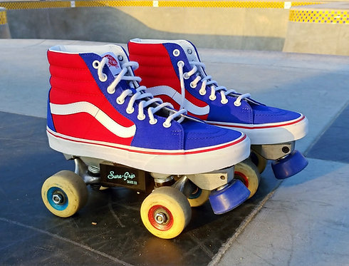 "Custom Vans Avanti Surf City Skates Signature ""ERA""inspired Park Roller Skates"