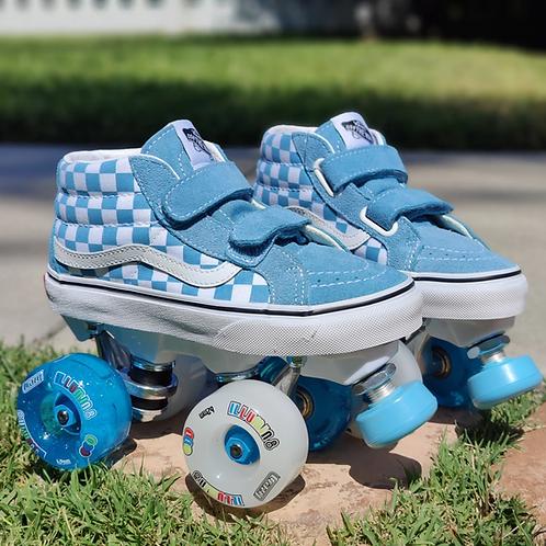 Custom Vans - Junior with Light Up Wheels