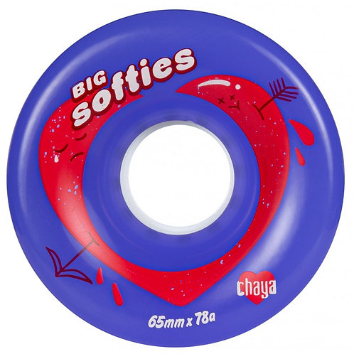 CHAYA BIG SOFTIE'S WHEELS - PURPLE - 4 PACK