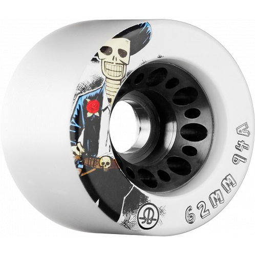 Rollerbones Day Of the Dead Speed wheel 62mm x94a White