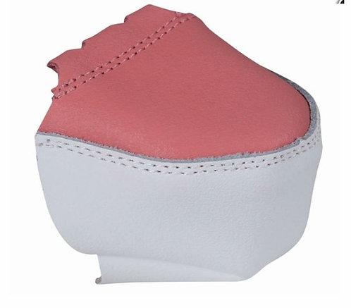Chaya Ruby Leather Toe Protector - Pink/ White
