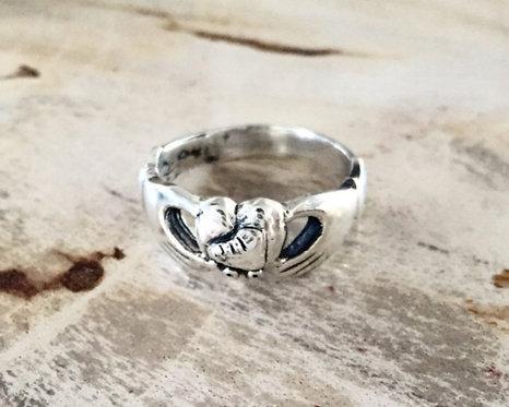 Sterling Silver Roller Skate Promise Ring