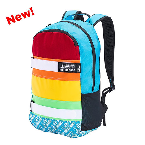 187 Killer Bags The Standard Issue Backpack (Rainbow, Black)