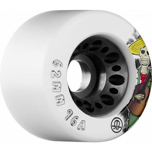Rollerbones Day of the Dead Speed wheel 62mm x 96a - White