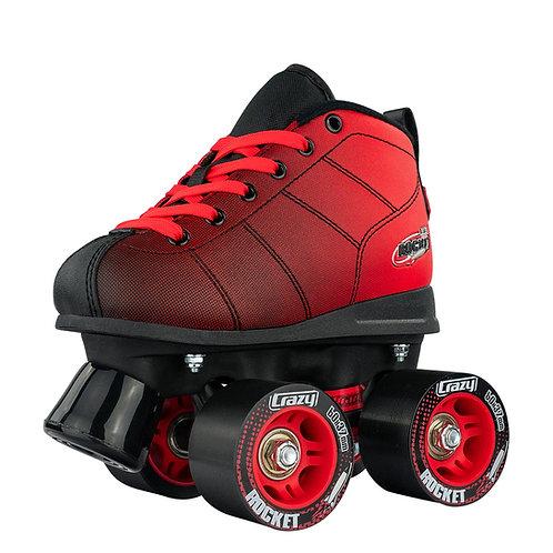 """CRAZY SKATE CO. """"ROCKET"""" KID'S ROLLER SKATES/ RED & BLACK"""