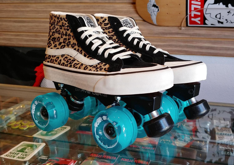 Custom Vans Roller Skates -Leopard