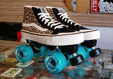 Custom Vans Roller Skates -Leopard print