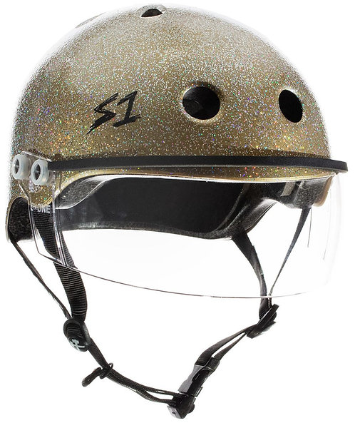 S1 Lifer Visor Helmet - Gen 2 - Double Gold Gloss Glitter w/ Clear Visor