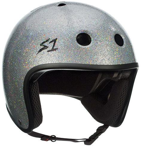 NEW S1 Retro Lifer Helmet - Silver Glitter