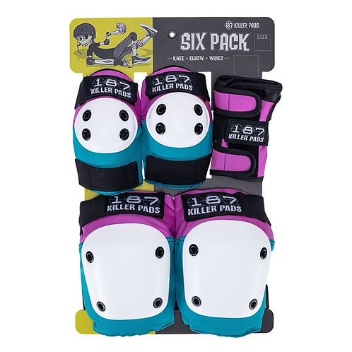187 Killer Pads Jr Six Pack Pad Set Pink/Teal