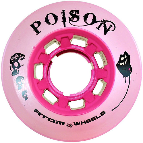ATOM 'POISON' - OUTDOOR/ HYBRID WHEELS - 4 PACK/ PINK