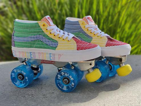 Custom Vans Roller Skates - Pride Sk8-Mid