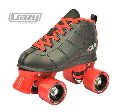 ROCKET BLACK & RED ROLLER SKATES