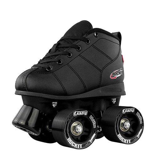 """CRAZY SKATE CO. """"ROCKET"""" KID'S ROLLER SKATES/ BLACK"""