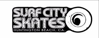 SURF CITY SKATES Black & White Sticker