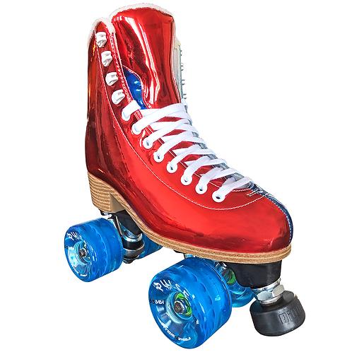 ATOM Jackson EVO Hologram Roller Skates RED BLUE