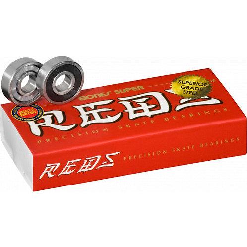 BONES SUPER REDS Bearings 8mm 16 pack
