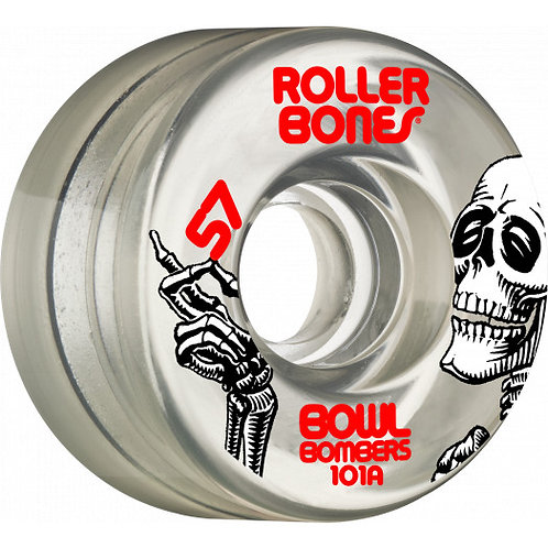 Rollerbones Bowl Bombers Wheels 57mm 101A 8pk Clear