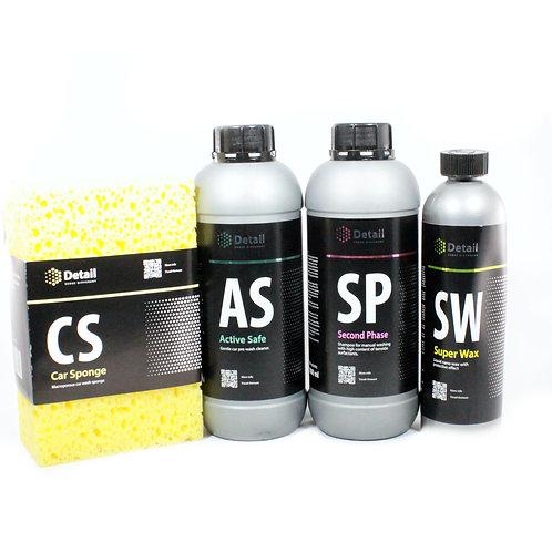 Wash en Wax Car Care Kit