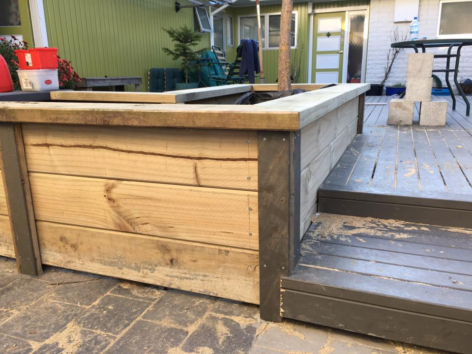 Built in garden box