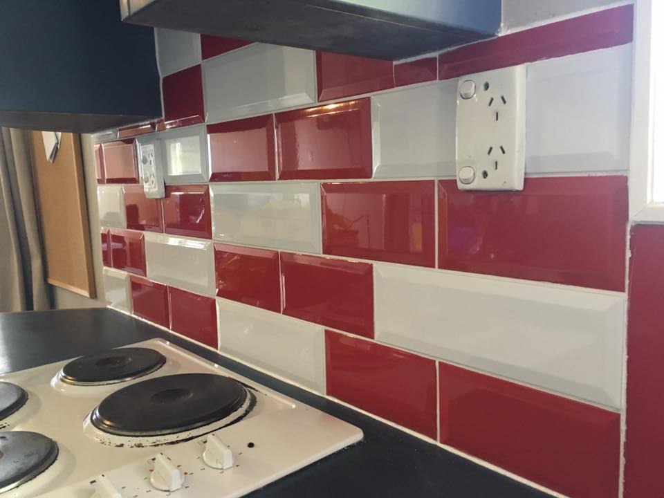 White and red tiling