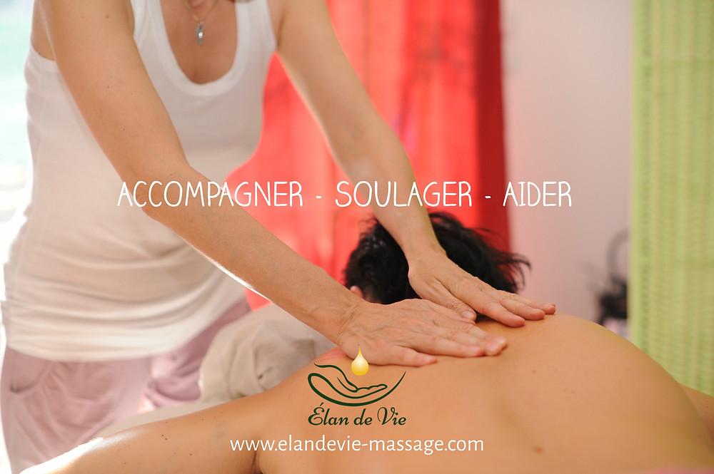 Les principes du massage bien-être, est d'accompagner, soulager et aider