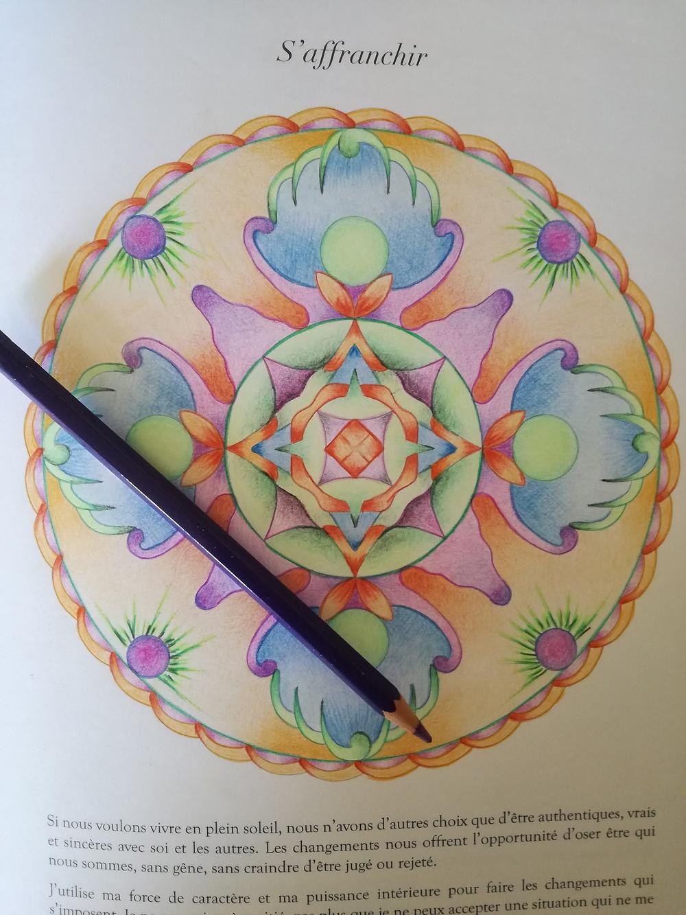 """Les mandalas sont devenus la grande tendance. Ils sont partout : sur les façades des bâtiments, sur les couvertures des livres, on les voit même en tatouages. Cependant, beaucoup ne savent pas que la création et le coloriage de mandalas est reconnu très bénéfique pour notre équilibre émotionnel.  Qu'est-ce qu'un mandala ?  C'est un dessin circulaire complexe avec des formes géométriques qui est utilisé dans la pratique de la méditation dans le monde bouddhiste et hindou. Le mot vient du sanscrit et signifie """"le cercle magique"""". Son origine remonte en Inde et a été adopté au fil des années dans d'autres pays de l'Est jusqu'à ce qu'il arrive chez nous."""