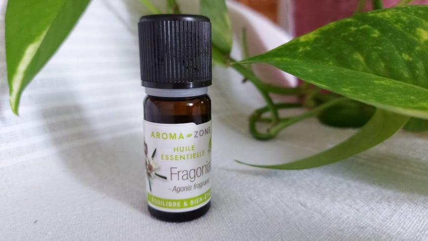 huile essentielle fragonia, flacon huile essentielle, massage bien-être