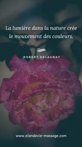 Citation de Robert Delaunay - Citation nature - Citation lumière et couleurs. Blog massage bien-être Villeneuve lès Avignon