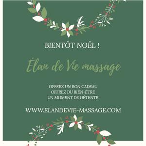 bon cadeau Noël Avignon - idée cadeau Noël Villeneuve lès Avignon - offrez un massage Les Angles Gard
