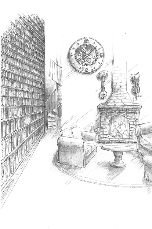 Limited Edition Signed Illustration-The Study